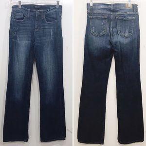 Judy Blue 26 in Boot Cut Jeans Dark Blue Low Rise